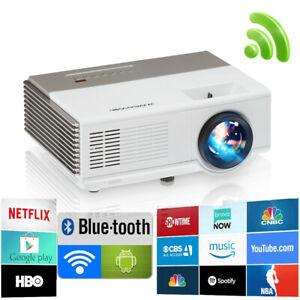 3000lms LED HD Android Projektor Wifi Blue tooth Smart 1080p HD Video Film HDMI