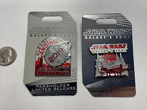 Disney STAR WARS GALAXY'S EDGE Opening Day Limited Edition Trading Pin SetNEW