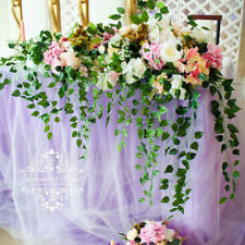 Artificial Fake Silk Rose Flower Ivy Vine Hanging Garland Wedding Home Decor