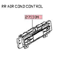 11-19 INFINITI QX56 QX80 CONTROL UNIT REAR AIR CONDITIONER MATCH# 27511-1LK0A