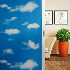 Blue sky white clouds window film frosted waterproof glass sticker privacy Decto