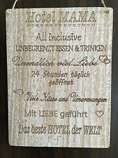 Türschild Deko schild Landhaus Vintage Shabby Retro Style HOTEL MAMA Dekoschild