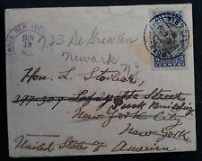 RARE 1920 Liberia Cover ties 5c stamp cancelled Monrovia to USA Forwarded