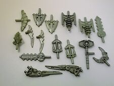 LEGO / Bionicle  (16) Assorted Sm Weapons / Blades - silver gray - Hero Factory
