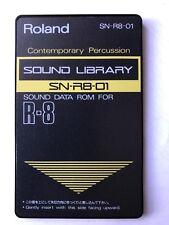 """Roland SN-R8-01 """"contemporain Percussion"""" Sound/ROM Carte pour R8, R8M, R 8 MKII"""