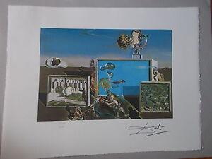 """Lithographie, Salvador Dali  """" Les Plaisirs Illuminés """" ,signée et numérotée"""
