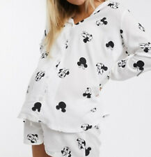 BNWT Asos Mickey Minnie Mouse Maternity Pregnancy Shorts Shirt Pyjamas Set 10 S