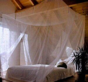 220 x 200 x 200cm Moskitonetz für Einzelbett Doppelbetten mit doppelte Öffnungen