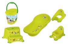 Topf 5er Set Z  Hippo grün : Badewanne XXL Hocker zweistufig WC Eimer