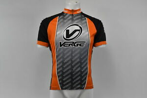 Verge Men's S/S Cycling Jersey, Orange/Grey/Black, Orange Cuff, Large, Brand New