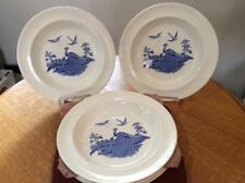 "Wedgwood Liverpool Birds blue creamware FIVE  6 1/4"" bread plates ca. 1947"