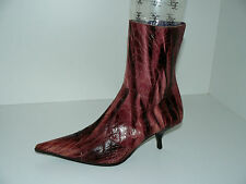 URSULA MASCARO elegante Stiefeletten Damen Retro Schuhe 40 UK 6,5 lila Leder