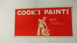 Vintage Cook's Paints Best for Wear and Weather Ink Blotter Used