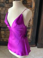 Alexander McQueen PreDeath SS07  Purple Silk Satin Backless Camisole - 40 - NWOT