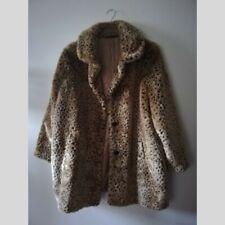 M&S Leopard Print Faux Fur Coat Size 20