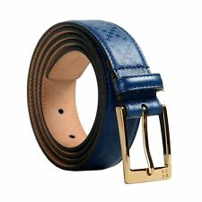 Gucci 100% Leather Blue Unisex Belt Sz 44