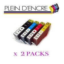 2 Packs 4 cartouche 364 XL Noir et couleur pour imprimante HP Photosmart 6525