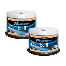 100 OQ 6x 25GB Blu-ray BD-R White Inkjet Printable Blank Discs OQBDR06WIP-H-50