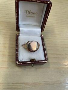 9ct Gold Antique  9ct Rose Gold Gents Ring Birmingham 1924 4,2 Grams Lot 1