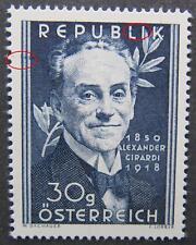 Alexander Girardi 1950 mit blauen Farbpunkten postfrisch **