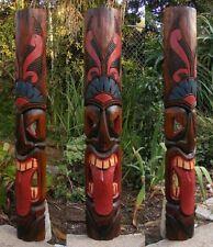 "Tribal Tiki Bar Tongue Wood Mask Wall Patio Tropical Bar Decor 39"""
