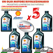 5 Litri Olio Motore 4 tempi SHELL ADVANCE ULTRA 4t 10W40 100% Sint. -  PUREPLUS