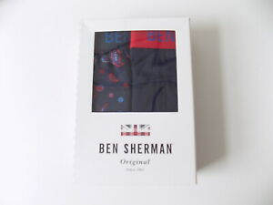 Ben Sherman Boxed 2 pack Mens Trunks RRP £30.00  Size M