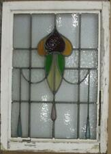 """MIDSIZE OLD ENGLISH LEAD STAINED GLASS WINDOW Pretty Abstract Drops 20.25"""" x 28"""""""