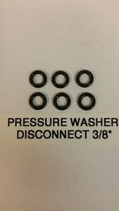 """6 PIECES PRESSURE WASHER O-RING KIT QUICK DISCONNECT 3/8"""" ID HOT WATER EPDM"""