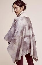 NWT Anthropologie Aiqua purple tan Tie Dye Soft Wool Turtleneck Poncho Cape S