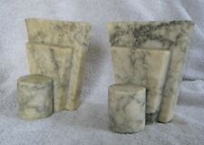1940s NORLEANS Made in Italy ART DECO Alabaster/Marble Bookends