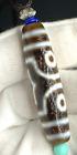"Antique Old Agate Tibetan Dzi Bead "" 3 Eyes "" Amulet Pendant Necklace 51.8mm"