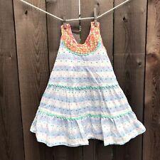 Matilda Jane Girls Happy & Free Dotted Sky Tank Dress Size 4t