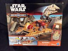 STAR WARS MILLENIUM FALCON PLAYSET Star Wars MICRO MACHINES force awakens NEW!