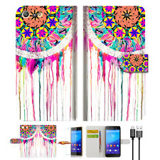 Dream Catcher Wallet TPU Case Cover For Sony Xperia M5 -- A015