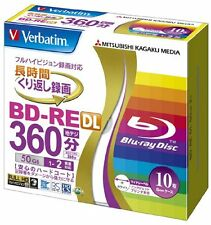 10 Verbatim Blu ray 50gb 2x Blank Rewritable Bluray Printable BD-RE DL japan