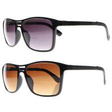 Retro Mens Aviator Bifocal Tinted Square Nerd Reading Glasses UV400 Sunglasses