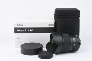 MINT BOXED SIGMA 20mm f1.4 DG HSM ART LENS, NIKON MOUNT, CASE+HOOD+PAPERS, NICE