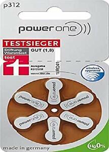Power One Zinc p312 pile pour prothèse auditive, 60 pcs pack