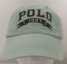 Polo Ralph Lauren Hat Baseball Cap~Faded Green~POLO 1967 Banner~Fabric Strap~NWT