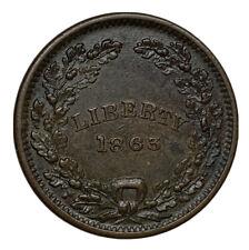 1863 Patriotic Civil War Token - Fuld 236/426a - Liberty / Union Au