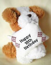 """18th regalo di compleanno, marrone e bianca Cucciolo con colletto Rosa 16 cm 6.1/2"""""""