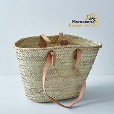 Straw bag French Basket french market basket, Beach Bag Handmade Moroccan Basket