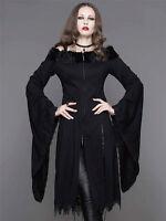Devil Fashion Women Black Gothic punk Long Coat Jacket Steampunk Dress Victoria