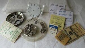 E25 Vintage Used E. Howard Pocket Watch Movement Parts Lot,  Repair,