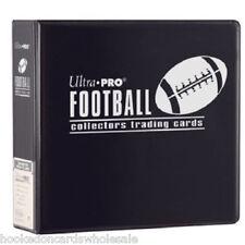 "Ultra Pro 3"" Black Football Card Album & 50 Ultra Pro Platinum 9 Pocket Pages"