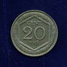 ITALY KINGDOM  1918-R  20 CENTESIMI ALMOST UNCIRCULATED, NICE COIN!