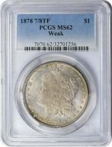 1878 Morgan Silver Dollar 8TF VF Uncertified