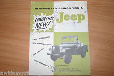 Willys Completely New Jeep Sales Folder 1950's