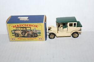Vintage Lesney Matchbox #Y-3 1910 Benz Limousine w/ Box